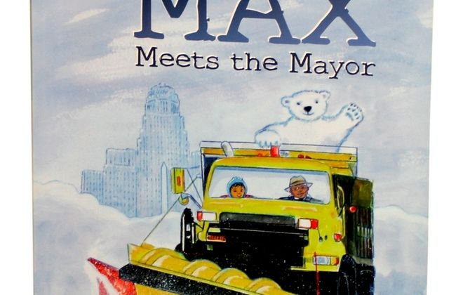 A meeting between a 6-year-old aspiring mayor and Buffalo Mayor Byron W. Brown inspired a children's book. (Jack Weibel/Buffalo News)