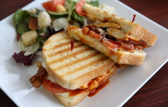A number of sandwiches are available at Melanie's Eats & Sweets in Hamburg, including the Buffalo chicken bacon ranch panini. For more photos, visit buffalonews.com. (Sharon Cantillon/Buffalo News)