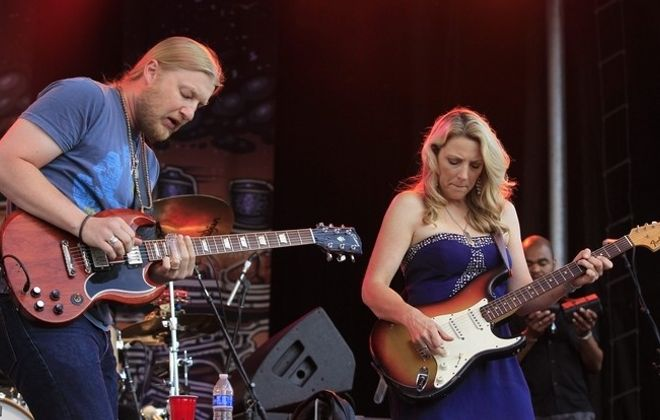 The Tedeschi Trucks Band, featuring husband and wife Susan Tedeschi and Derek Trucks, will perform Aug. 4 at Artpark in Lewiston. (Harry Scull Jr. /News file phto)