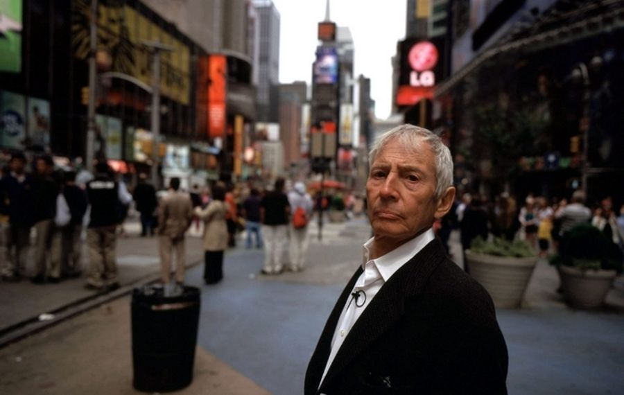 "Robert Durst, subject of HBO series ""The Jinx: The Life and Deaths of Robert Durst,"" was arrested after microphone picked up an apparent confession muttered during a bathroom break. (HBO Films)"