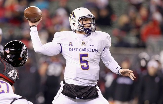 East Carolina quarterback Shane Carden was the American Athletic Conference Player of the Year in 2014. (Getty Images)