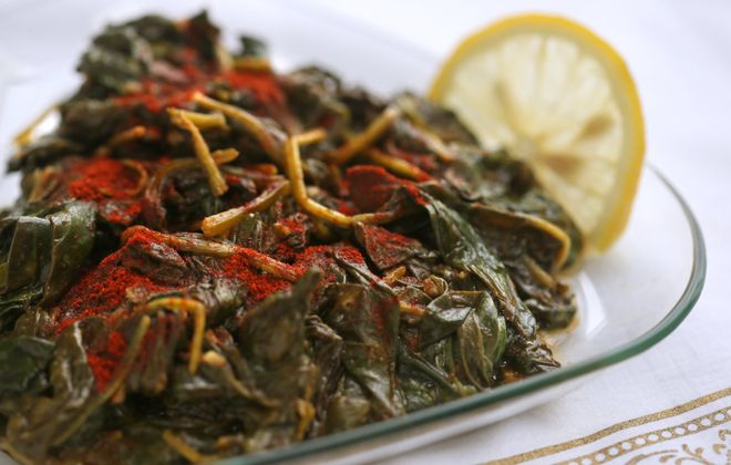 Moroccan-Inspired Spinach. (Cristina Fletes-Boutte/St. Louis Post-Dispatch/TNS)