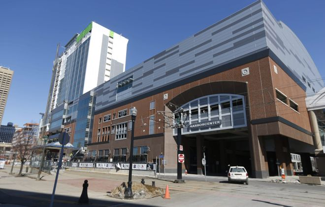 HarborCenter's 5,000-square-foot mini-mall will be located on the west side of the complex, next to the main entrance.