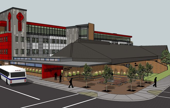 The City Mission plans to build housing and office space over its existing parking lot.
