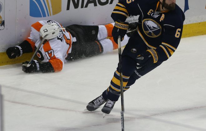 Sabres defenseman Mike Weber would like to hear more cheers at home games.