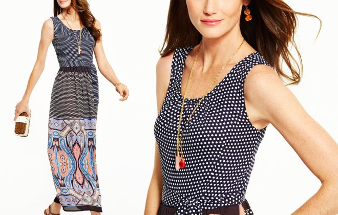 Spring Fashion Preview for Susan Martin. Dotted dress from summer collection (Talbots)
