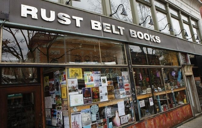 Local poet Jeffrey Charles Naish will speak Saturday at Rust Belt Books on Allen Street, pictured here in 2012. (Derek Gee/Buffalo News file photo)
