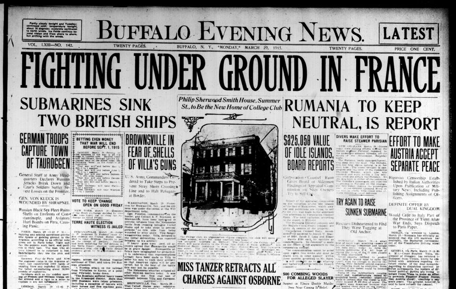 Front page March 29, 1915: Aldermen told of controversial islands' appraised value