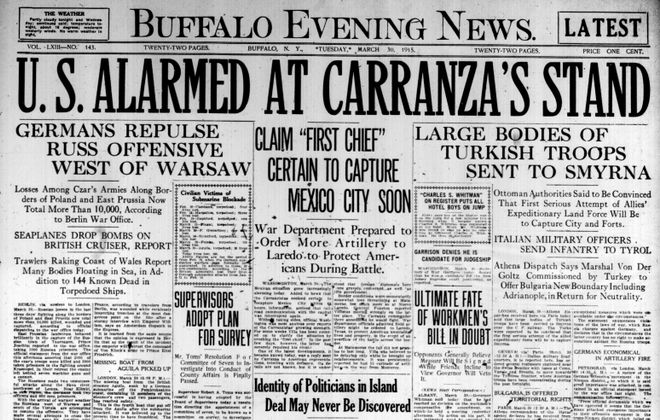 Front page March 30, 1915: News sees little hope of unmasking island deal backers