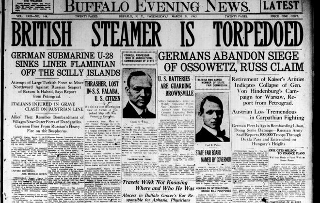 Front page March 31, 1915: Memory lapse blamed for grocer's disappearance