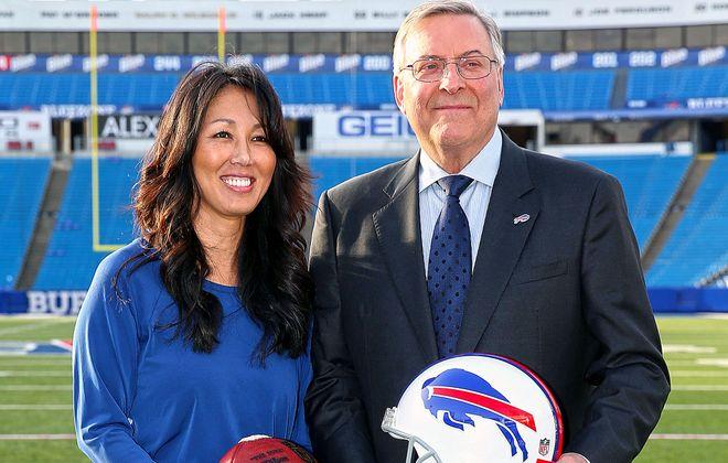 Kim and Terry Pegula.  (Buffalo News)