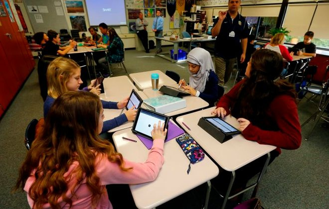 Education and health care are the two biggest components of the state budget. With Medicaid driving a state budget deficit of $6.2 billion, it will hard to deliver a larger increase in education aid than Gov. Andrew M. Cuomo has already proposed. (John Hickey/News file photo)