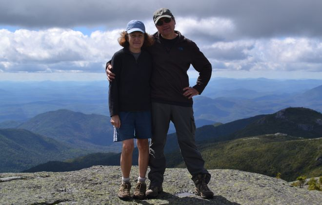Marty and Donna Ruszaj, of East Amherst, climbed to the Algonquin Peak in the Adirondacks last fall.