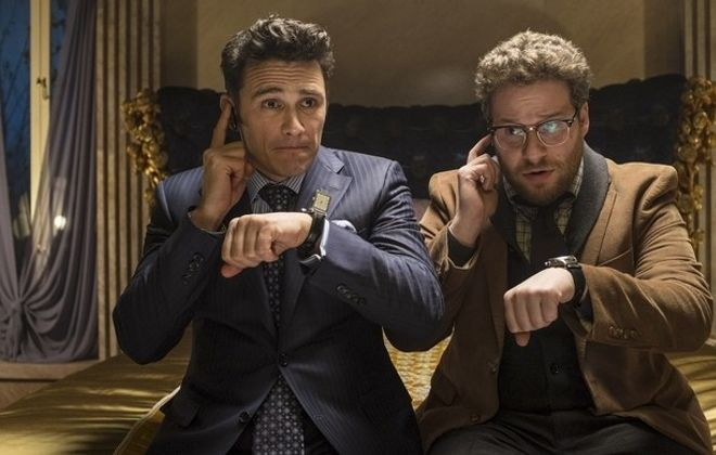 """""""The Interview,"""" starring Seth Rogen and James Franco, will be streamed on Netflix starting Saturday."""