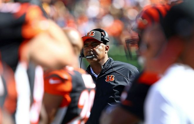 Cincinnati head coach Marvin Lewis remains in search of his first postseason victory with the Bengals. (Getty Images)