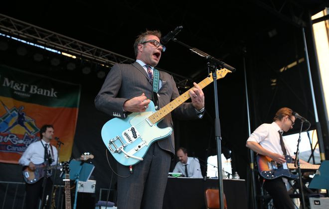 Steven Page, pictured performing at Canalside, returned for a concert in the Bear's Den. (Buffalo News file photo)