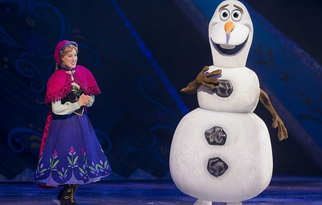 """Anna (left) from """"Frozen"""" is one of the Disney princesses in """"Disney on Ice presents Princesses and Heroes"""" at the First Niagara Center."""