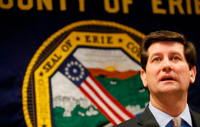 When Erie County Executive Mark C. Poloncarz delivers his State of the County address this week, his topics should include the business climate, Erie Community College and body cameras for sheriff's deputies. (Derek Gee/News file photo)