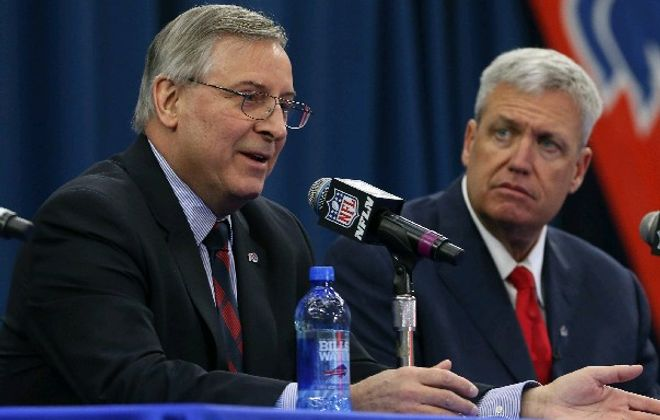 Terry Pegula and the Bills are fine with the way things worked out with new coach Rex Ryan. (James P. McCoy/Buffalo News)