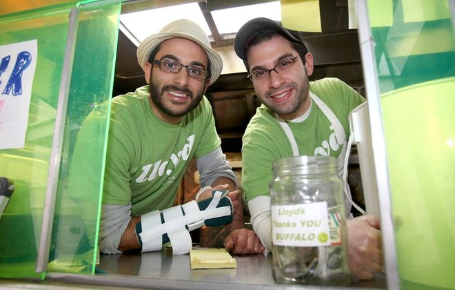 """Pictured here during Lloyd's debut in 2010, owners Peter Cimino, left, and Chris Dorsaneo, right, will appear on CNBC's """"Restaurant Startup"""" in February. (Robert Kirkham/Buffalo News file photo)"""