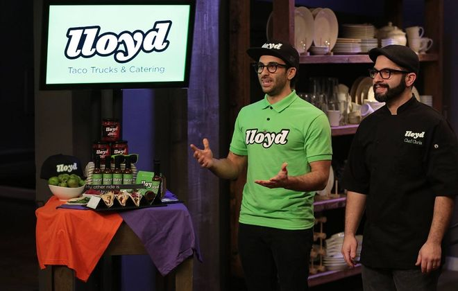 """Lloyd Tacos co-owners Peter Cimino, left, and Chris Dorsaneo, right, compete on CNBC's """"Restaurant Startup."""" (Chris Haston/CNBC)"""