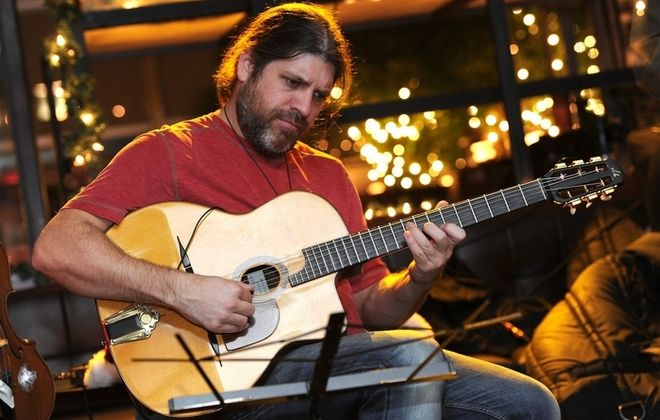 Guitarist Stephane Wrembel will perform Friday in the Sportsmen's Tavern.
