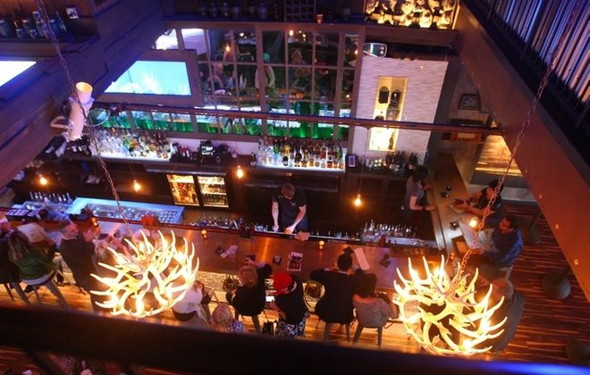 A view of the bar from second floor of The Lodge . (John Hickey/Buffalo News file photo)