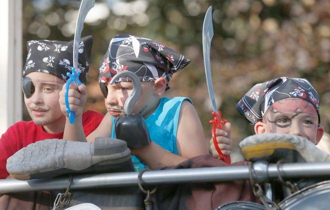These small pirates appear to have enjoyed the Canal Fest parade. The festivities in Tonawanda run through Sunday. (Robert Kirkham/Buffalo News)