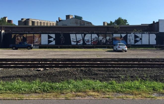 New mural in the Old First Ward.
