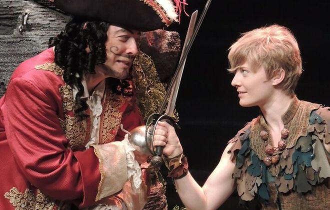 "John Bolton, left, and Hayley Podschun star in ""Peter Pan"" at Artpark."