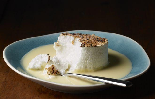 Et Voila! chef Claudio Pirollo has re-engineered the recipe for floating islands dessert.