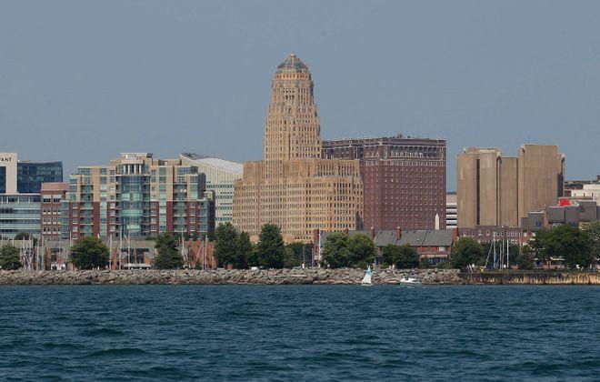 The city skyline of Buffalo, the major city in Western New York. Happy #716Day. (Sharon Cantillon/Buffalo News file photo)