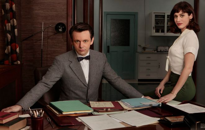 """Michael Sheen and Lizzy Caplan star in Showtime's """"Masters of Sex."""""""