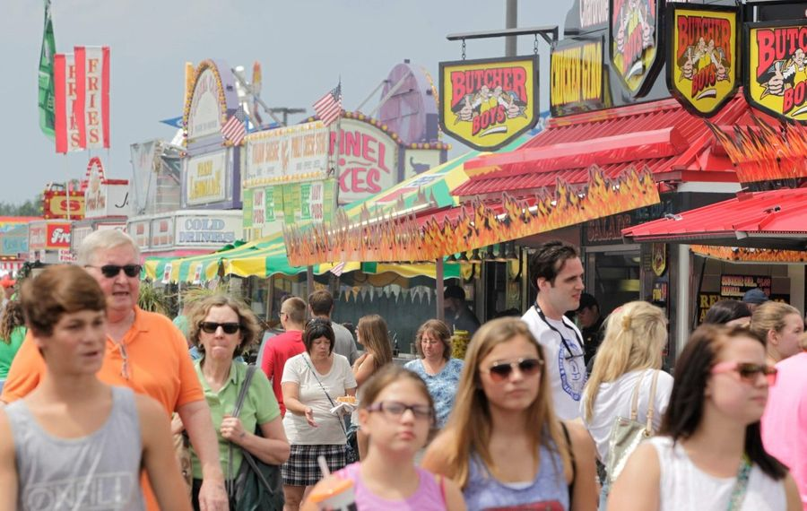 If you're going to the Erie County Fair, you can host your own family picnic on the fairgrounds. (Derek Gee/Buffalo News file photo)