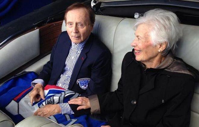 Bills fans say farewell to a broadcasting legend. (Robert Kirkham/Buffalo News file photo)