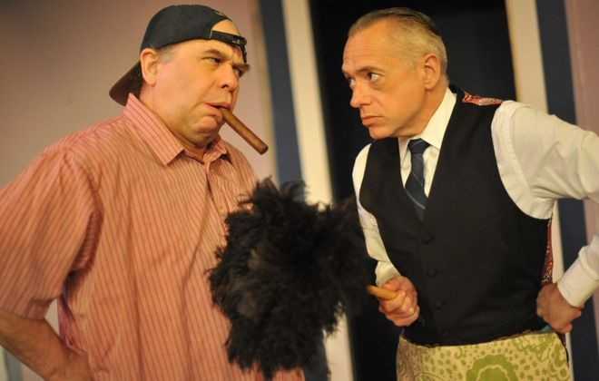 """Tom Loughlin and Tim Newell star in Jewish Repertory Theatre's production of """"The Odd Couple."""""""