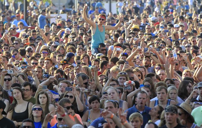 A sold-out crowd of about 10,000 people witnessed the first Kerfuffle concert event last summer at Canalside. (Harry Scull Jr. /News file photo)
