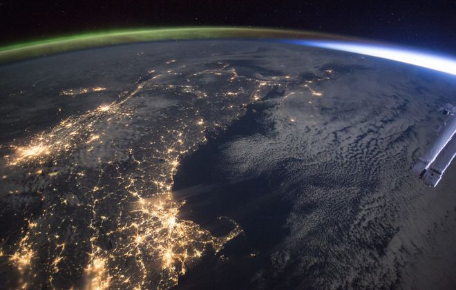 A photo taken Jan. 11 from the International Space Station shows the U.S. East Coast, with the lights of Boston in the foreground. Every week, the six astronauts living and working aboard the space station, about 250 miles high, record incredible images of things on Earth.