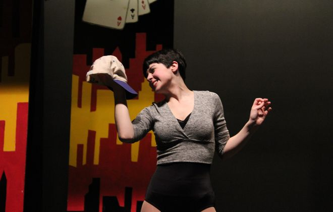 NU theatre performance junior, Kathleen Macari, as Miss Adelaide In NU TheatreþÄôs production of Guys and Dolls, on stage in the Leary Theatre from April 23 þÄì May 3. - for Niagara Weekend