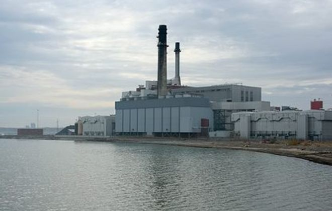 A file photo of the coal-fired power plant in Dunkirk. Chautauqua County was one of six counties in the state to receive a failing grade in air quality report. (News file photo)