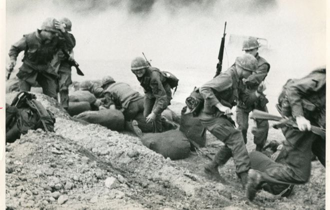 """Soldiers of the U.S. 1st Cavalry were greeted with enemy rocket fire when they arrived at Camp Evans in South Vietnam in 1968. The Vietnam War officially ended 40 years ago, on April 30, 1975. Years later, Defense Secretary Robert McNamara acknowledged that """"our ignorance"""" of Vietnam's history was one of the """"major causes for our disaster in Vietnam."""""""
