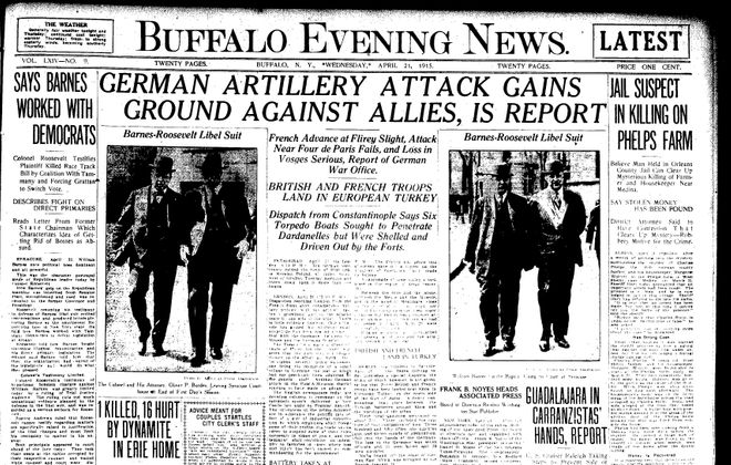Front page April 21, 1915: Man arrested in murder of rich Medina farmer