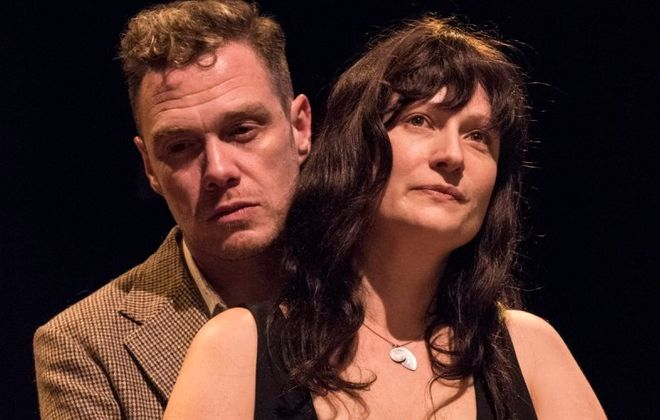"""Chris Kelly and Kristin Tripp Kelley appear in the Irish Classical Theatre Company's production of """"The Beauty Queen of Leenane."""""""
