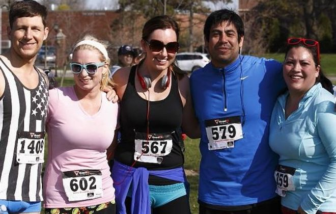 Participants smile after the 2013 Undy Run-Walk in Delaware Park. (Don Nieman/Special to the News)