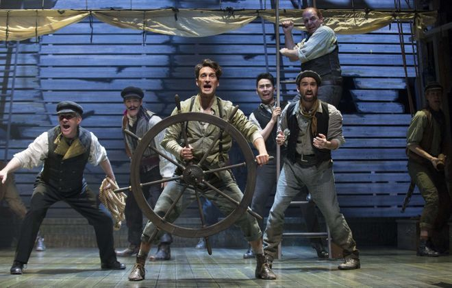 "Charlie Gallant, center, stars in the Shaw Festival's production of ""Peter and the Starcatcher."""