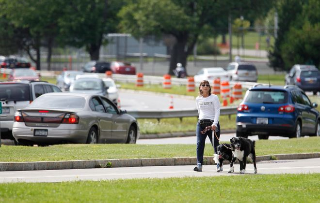 The death of a child due to a car veering off the 198 into Delaware Park has public calling louder for Scajaquada changes. (Sharon Cantillon/Buffalo News file photo)