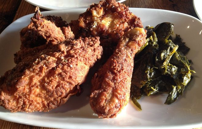 The fried chicken from Toutant was one of the hits of Andrew Galarneau's visit. (Andrew Galarneau/Buffalo News)