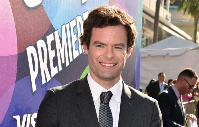 "Before he was at Iroquois High School on June 11, actor Bill Hader went to the premiere of Disney-Pixar's ""Inside Out"" on June 8 in Hollywood. (Getty Images)"