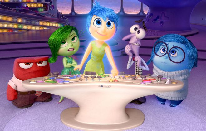 """""""Inside Out"""" receives a four-star rating from Jeff Simon. (Pixar)"""