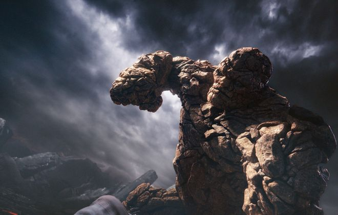 """In 20th Century Fox's third attempt at a """"Fantastic Four"""" film, the cast is asked to do a lot. From top, Human Torch (Michael B. Jordan), Mr. Fantastic (Miles Teller), Invisible Woman (Kate Mara) and The Thing (Jamie Bell) gain their powers through an experimental machine gone awry and a transportation to another dimension."""